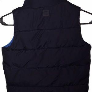 Baby gap vest boys navy blue size 5 puffer hi neck
